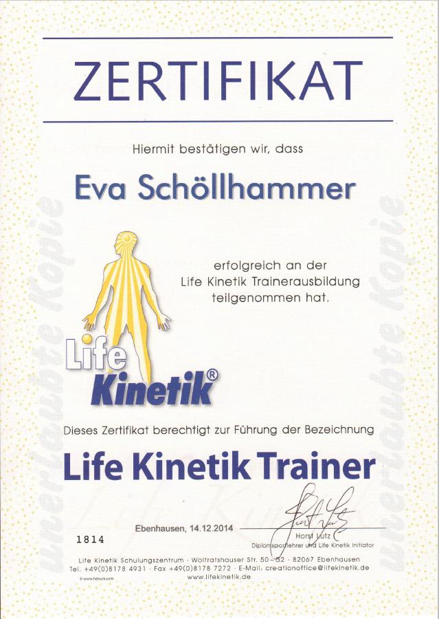 Life Kinetik Zertifikat
